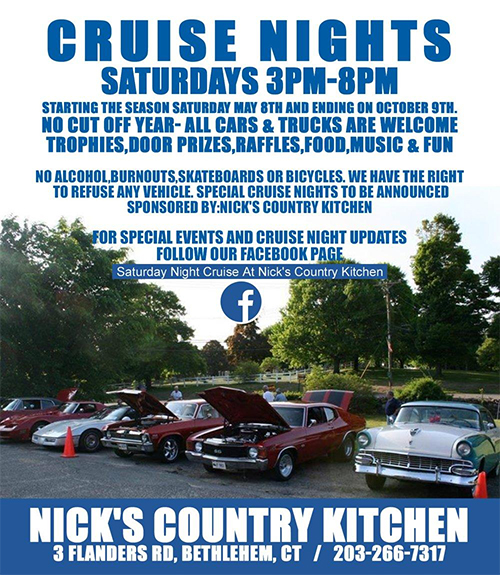 cruise nights nicks country kitchen